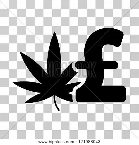 Cannabis Pound Business vector pictograph. Illustration style is a flat iconic black symbol on a transparent background.