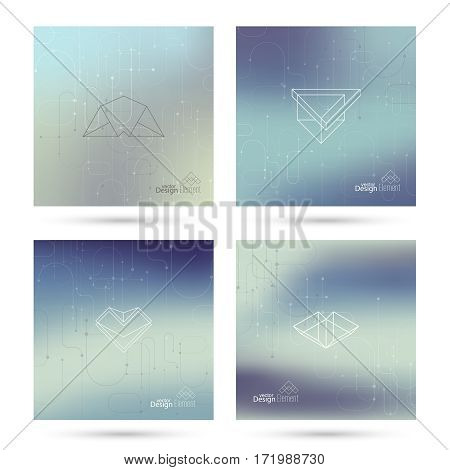 Trendy abstract background. Collage of geometric elements. Modern hand drawn design. Retro style texture, pattern. Creative backdrop for booklets, covers, poster, banner. Set Memphis cards. Vector