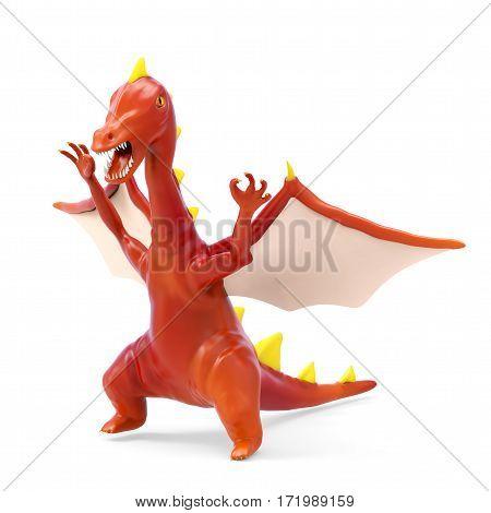 Cartoon Evil Dragon