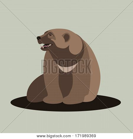 Wolverine vector illustration style Flat front side
