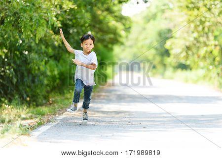 Boy Wave Hand
