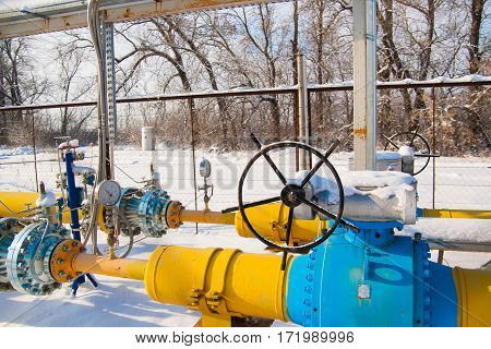 Gas reducer and the valve on the pipeline