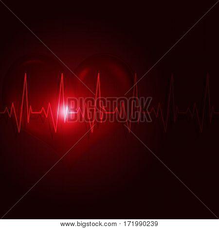 Heart Pulse Dark Background