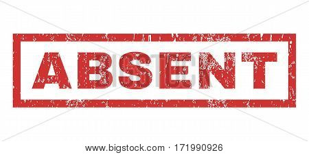 Absent text rubber seal stamp watermark. Caption inside rectangular banner with grunge design and dirty texture. Horizontal vector red ink sign on a white background.