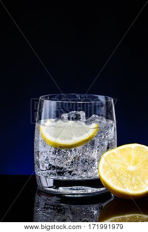 Glass Glass Of Water With Lemon
