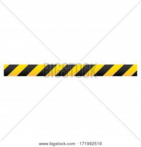 color silhouette with warning tape vector illustration