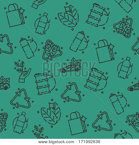 Recycling set pattern. Vector illustration EPS 10