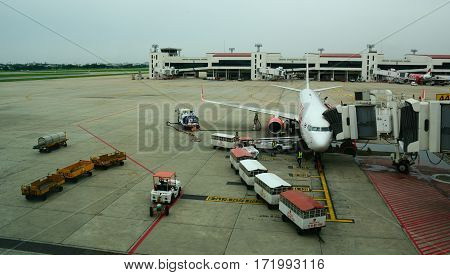 Don Muang Intl Airport In Bangkok, Thailand