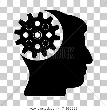 Head Gear vector pictograph. Illustration style is a flat iconic black symbol on a transparent background.