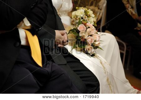 Part Of A Wedding Couple
