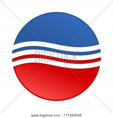 Sticker USA flag - Vector illustration on white background