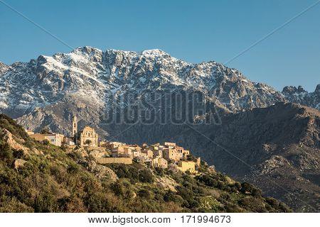 Village Of Montemaggiore And Monte Grosso In Corsica