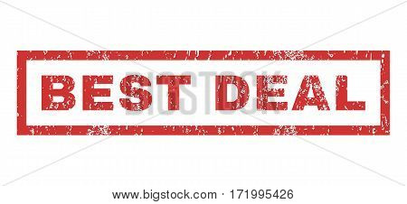 Best Deal text rubber seal stamp watermark. Caption inside rectangular shape with grunge design and dirty texture. Horizontal vector red ink emblem on a white background.