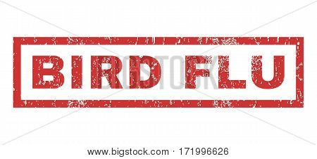Bird Flu text rubber seal stamp watermark. Tag inside rectangular shape with grunge design and dust texture. Horizontal vector red ink sign on a white background.