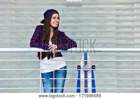 Female With Skate Posing