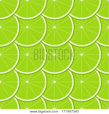 Seamless pattern with ripe juicy lime fruit.