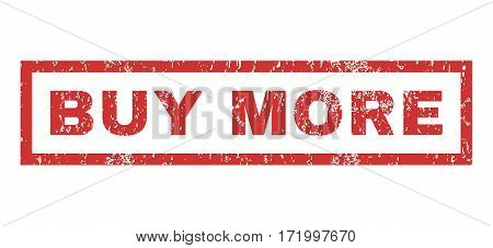 Buy More text rubber seal stamp watermark. Caption inside rectangular banner with grunge design and dirty texture. Horizontal vector red ink sticker on a white background.
