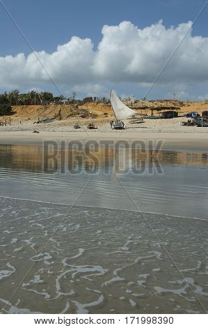 Sailboat At The Beach Brazil