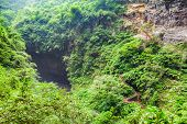 Longshuixia Fissure Gorge in Wulong country Chongqing city southwest China It is a typical karst landscape and fantastic nature place poster