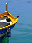 Traditional colors of the traditional Malta fishing boats commonly known as luzzu or dghajsa. poster