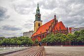 St. Mary's Church known in German as Marienkirche is a church in Berlin Germany. It is located on Karl-Liebknecht-Strasse formerly Kaiser-Wilhelm-Strasse in central Berlin near Alexanderplatz poster