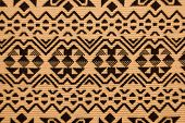 Peruvian traditional woven wool fabric background, Latin America poster