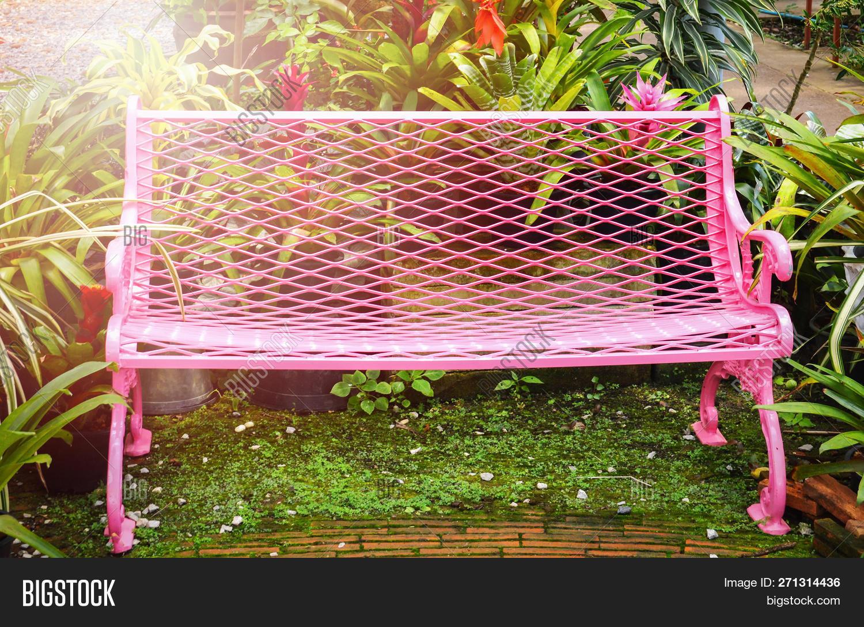 Remarkable Garden Bench Outdoors Image Photo Free Trial Bigstock Machost Co Dining Chair Design Ideas Machostcouk