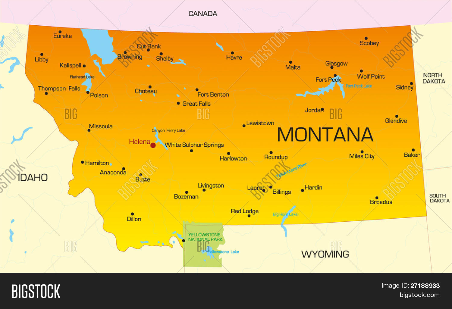 Vector Color Map Vector & Photo (Free Trial) | Bigstock on snowflake in montana, home in montana, dinosaurs in montana, animals in montana, usa map in miami, butterflies in montana, turkey in montana, tent in montana, usa map from montana,