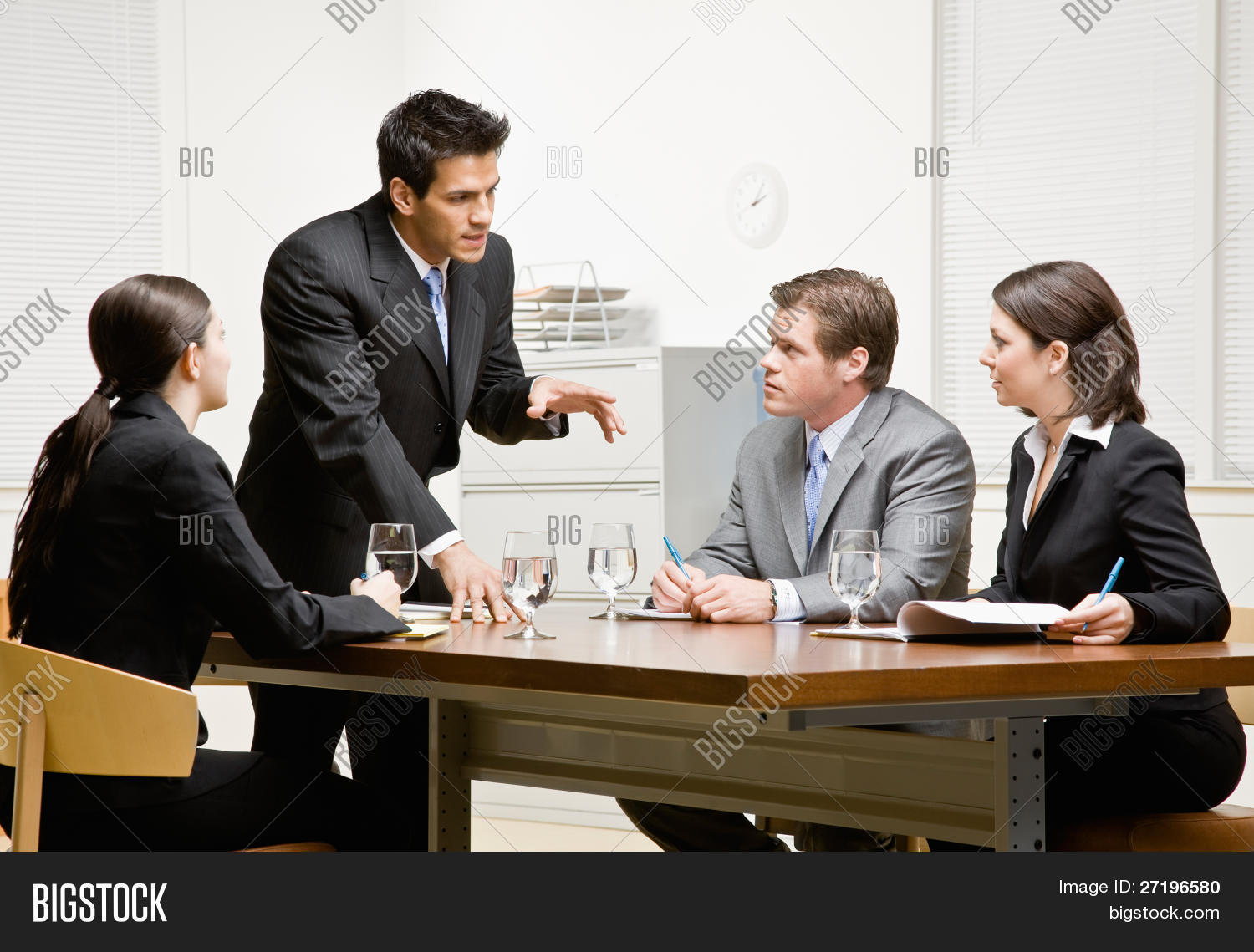 Pleasing Co Workers Listening Image Photo Free Trial Bigstock Home Interior And Landscaping Ponolsignezvosmurscom
