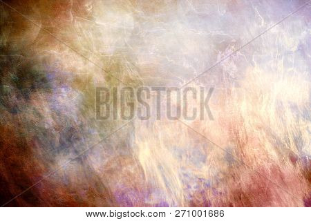 Abstract Artistic Multicolored Smoky Galactic Texture Background