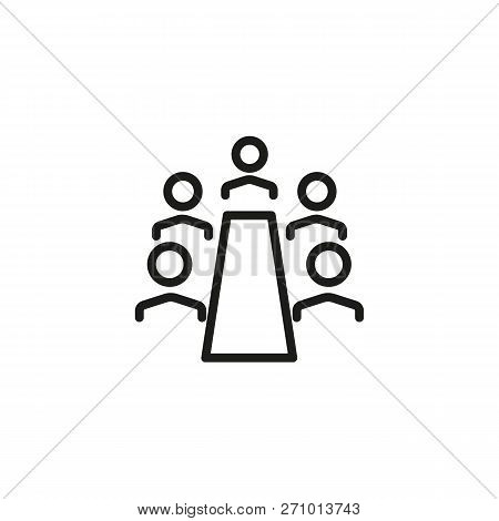 Chief Executive Line Icon. Boardroom, Meeting, Company. Training Concept. Vector Illustration Can Be