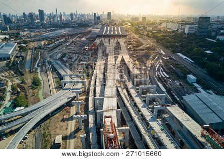 Bangkok, Thailand - November 11, 2018 : Aerial View Of Bang Sue Central Station, The New Railway Hub