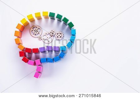 Abstract Colorful Human Brain, Concentration Of Thoughts, Rational Thinking, Information Processing,