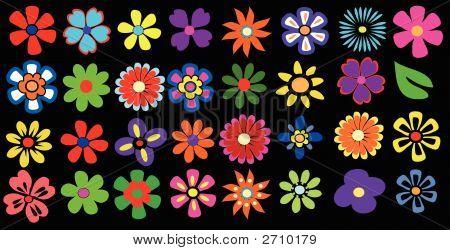 Bunter Frühling-Blumen-Vektor-Illustration