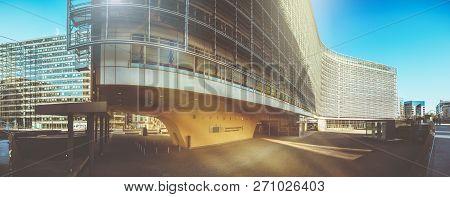 Brussels, Belgium - 25 February 2018: European Commission Headquarter - Berlaymont Building