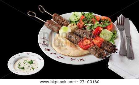 Lebanese cuisine. Clipping path included.