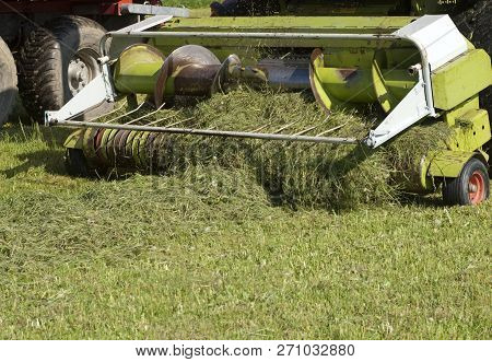 Agricultural Machinery For Cutting Grass For Silage.