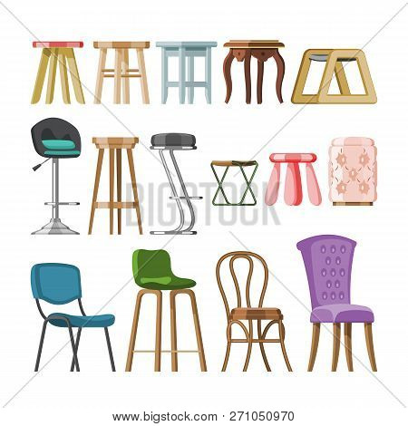 Chair Vector Comfortable Furniture Stool Bar-chair And Modern Bar Seat Design In Furnished Bistro Ca