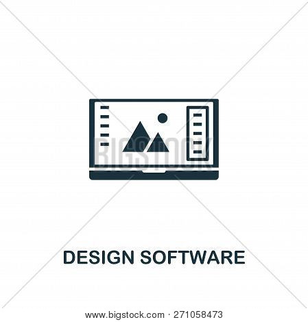 Design Software Icon. Premium Style Design From Design Ui And Ux Icon Collection. Pixel Perfect Desi