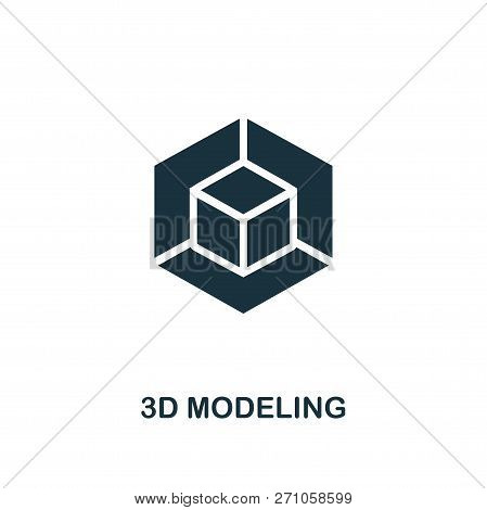 3d Modeling Icon. Premium Style Design From Design Ui And Ux Icon Collection. Pixel Perfect 3d Model