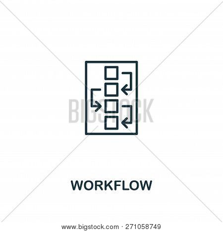 Workflow Icon. Premium Style Design From Design Ui And Ux Icon Collection. Pixel Perfect Workflow Ic