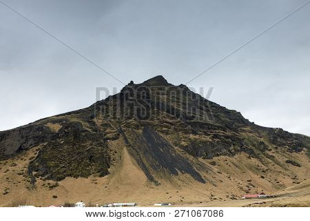 One Of The Peaks Of The Eyjafjoll Mountains In Iceland