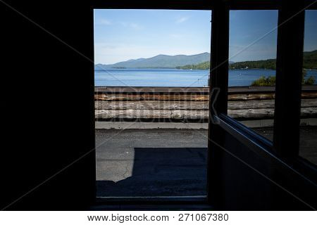 Looking Out At Lake George From Fort William Henry In New York