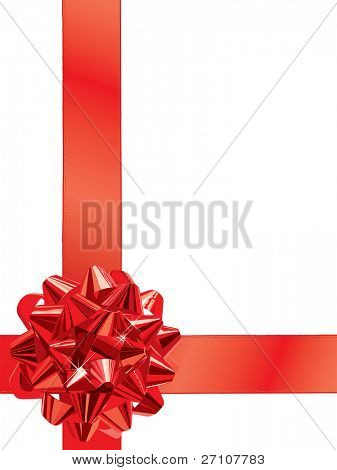 Red Gift Bow (editable vector). In the gallery also available jpeg image made from this vector