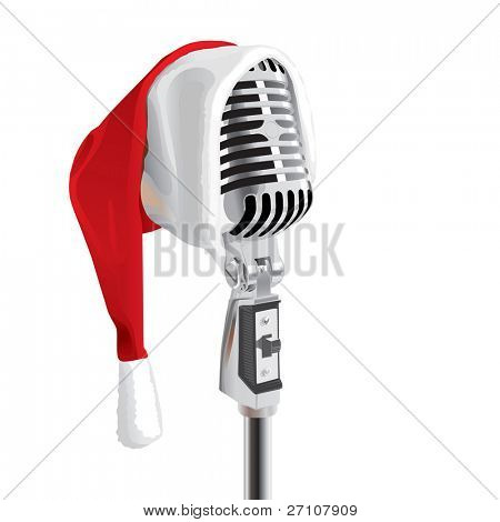 Christmas Song (editable vector). In the gallery also available XXL jpeg image made from this vector