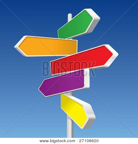 Directional Signs (in the gallery also available vector version of this image)