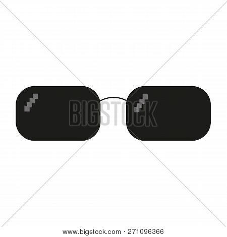 d60e10de3cf Glasses Pixel Vector Icon. Pixel Art Glasses Of Thug Life Meme - Isolated  On White