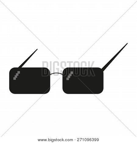 Glasses Pixel Vector Icon. Pixel Art Glasses Of Thug Life Meme - Isolated On White Background Vector