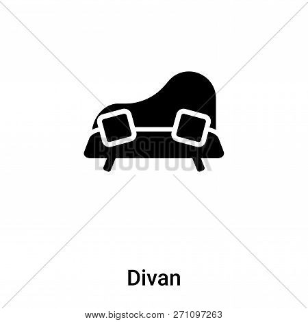Divan Icon In Trendy Design Style. Divan Icon Isolated On White Background. Divan Vector Icon Simple