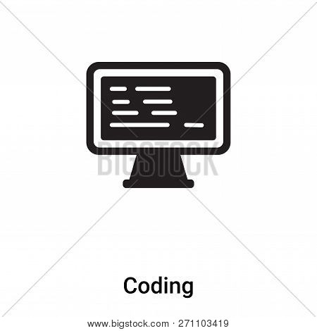 Coding Icon In Trendy Design Style. Coding Icon Isolated On White Background. Coding Vector Icon Sim